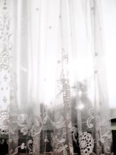 lace curtain. I want some for the office