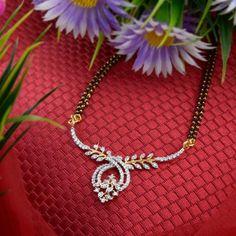Gold Jewelry Design In India Diamond Mangalsutra, Gold Mangalsutra Designs, Gold Earrings Designs, Gold Jewellery Design, Diamond Jewellery, Jewellery Earrings, Jewelry Necklaces, Bracelets, Bridal Jewelry