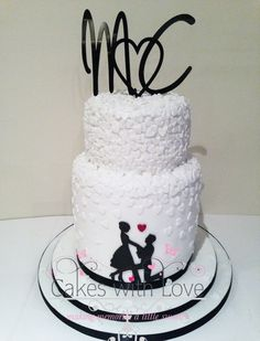 silhouette wedding cakes ideas 1000 images about josalynn engagement part on 19823