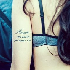 Not the words..but i like where this is at on the arm..cute idea
