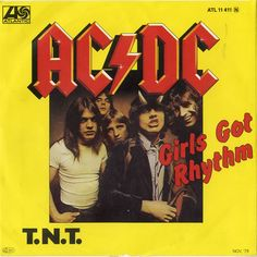 """For Sale - AC/DC Girls Got Rhythm Germany 7"""" vinyl single (7 inch record) - See this and 250,000 other rare & vintage vinyl records, singles, LPs & CDs at http://eil.com"""