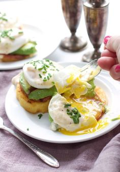 Skinny Avocado Eggs Benedict Polenta Patties Eat