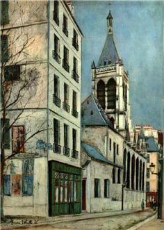 Church of St. Severin, Maurice Utrillo