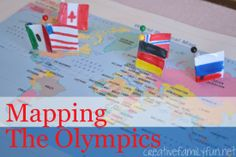 Mapping the Olympics from Creative Family Fun