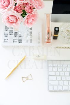 Vertical Workspace Stock Image Office Styled by CarmenCreativeShop