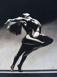 "Very decorative image. Artist Allen Richings; Medium: Oil painting. Year: 2002. Title: ""Dance Erotic""."