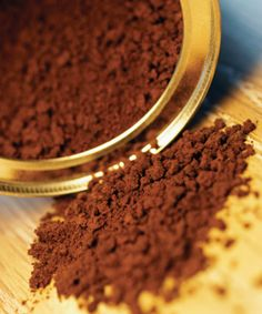 Mix coffee granules with coconut oil for a hair mask that will stimulate hair growth and give dark hair a gleaming shine