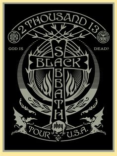 fairey Black Sabbath 2013 Tour Silver Black Cross