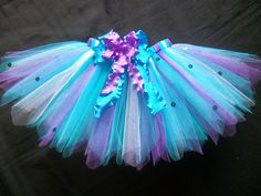 Mermaid tutu...for all my crafty friends who make these cute lil tutus. I thought  you all would like to see this cuz it is so cute and the colors are awesome! Makes me wish I had a little grandaughter to make this for.