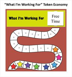 Token economy with a working for space. Repinned by Firefly Education London @FireflyEdLondon