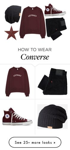 """Untitled #80"" by samwa147 on Polyvore featuring Levi's, Converse and Barts"