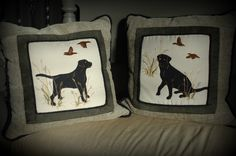 Black labrador pillows.