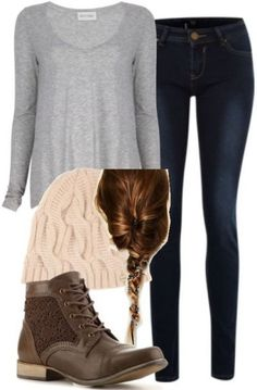 I like the boots and knit cap and well... EVERYTHING!