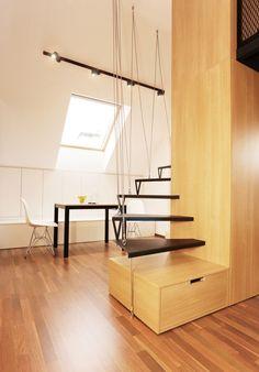 spiraltreppe als highlight in der kleinen wohnung, Innenarchitektur ideen