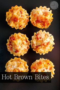 Hot Brown Bites — My take on the classic and decadent Hot Brown in bite-sized form! Appetizers For Party, Appetizer Recipes, Dessert Recipes, Yummy Appetizers, Dip Recipes, Yummy Recipes, Delicious Desserts, Breakfast Recipes, Yummy Food