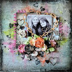 2 Crafty Chipboard : August Layouts by Rachael Funnell