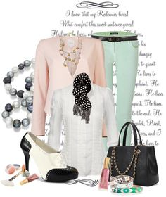 """""""white button down"""" by teresab-847 ❤ liked on Polyvore"""