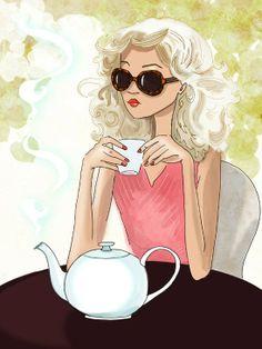 Tomando un te