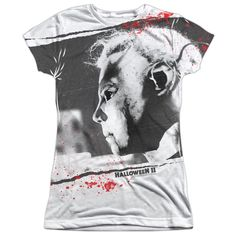 """Checkout our #LicensedGear products FREE SHIPPING + 10% OFF Coupon Code """"Official"""" Halloween Ii/myers Mask  S/s Junior 100% Poly Crewt- Shirt - Halloween Ii/myers Mask  S/s Junior 100% Poly Crewt- Shirt - Price: $24.99. Buy now at https://officiallylicensedgear.com/halloween-ii-myers-mask-s-junior-100-poly-crewt-shirt-licensed"""
