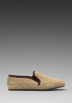 H BY HUDSON Orca Canvas Slip-On in Natural - h