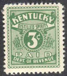 Kentucky State Revenue Liquor Tax Stamp KY L12 | eBay