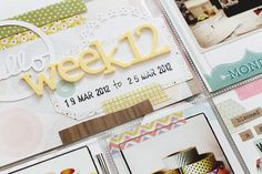 Project Life | Week 12I have to say this is by far one of my favorite weeks since I started Project Life. Well, the main reason was not only it was my birthday week *laugh* which was filled with lots of love, laughter and great memories, the color palette and all the yummy goodies I used this…