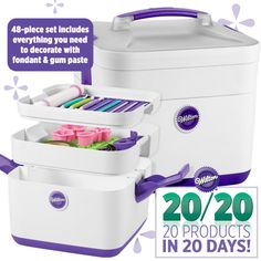 Josephine we must have! lol Our Fondant and Gum Paste Decorating Set includes everything you need to decorate with fondant and gum paste. Cupcake Icing, Cupcakes, Cupcake Cookies, Wilton Cake Decorating, Cookie Decorating, Decorating Tools, Fondant Figures, Baking Gadgets, Basic Cake