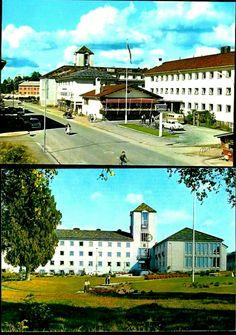 Hedmark fylke Elverum kommune Hotell Central og Rådhuset  1960-tallet
