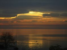 peaceful sunset in Thermaikos Gulf Thessaloniki, Greece, Celestial, Sunset, Places, Outdoor, Pictures, Sunsets, Outdoors
