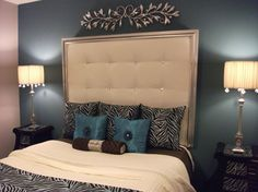 Diy Tufted Headboard With Silver Frame   Bedroom Designs   Decorating Ideas    HGTV Rate My