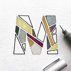 """3,793 Likes, 21 Comments - Ligature Collective (@ligaturecollective) on Instagram: """"M is for... Mosaic! - Awesome #singleletterartwork by @ddccad - - - - #handlettering #lettering…"""""""