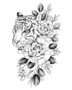 White background Tattoo for man and woman tattoos tattoos tattoos school tattoos tattoos for men ideas Dream Tattoos, Future Tattoos, Body Art Tattoos, Sleeve Tattoos, Cool Tattoos, Tiger Tattoo Sleeve, Small Tattoos, Tattoos For Women Flowers, Hip Tattoos Women