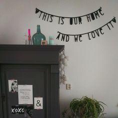 Natuurlijk hebben de #wordbanner ook in ons eigen huis. #meinspiringmyself…