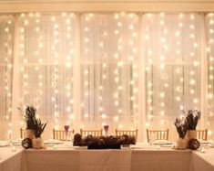 Trendy Ideas for diy wedding backdrop head table Nest Design, Led Curtain Lights, Window Lights, Backdrop Lights, Icicle Lights, Head Table Backdrop, Ceremony Backdrop, Backdrop Ideas, Sweetheart Table Backdrop