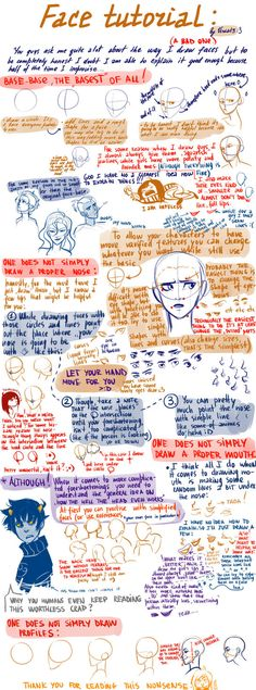 a very bad face tutorial by viria13 on deviantART - actually, it's fabulous