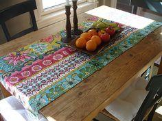 table runner made of napkins