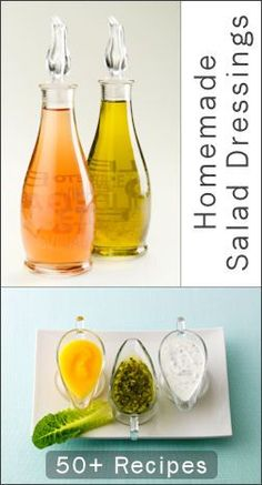 50 homemade salad dressing recipes! This is an awesome, comprehensive list.