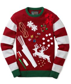 9 Best DIY Ugly Christmas Sweaters - I didn't even think to DIY an ugly Christmas sweater!