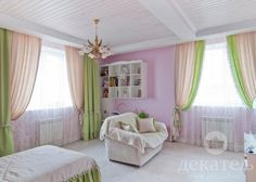 Фантазийные шторы в детскую девочки фото | Декатель Новосибирск