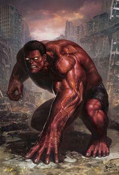 #Red Hulk #Fan #Art. (Age of Ultron: Red Hulk (2013) By: In-Hyuk Lee. ÅWESOMENESS!!!™ ÅÅÅ+