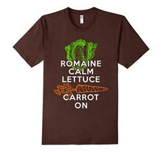 Men's Romaine Calm Lettuce Carrot On Vegan T Shirt  *Click image to check it out* (affiliate link)