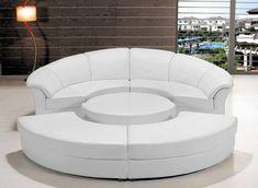 Modern Leather Circular Sectional Sofa- Circle