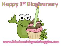 Fabulous 4th Grade Froggies: It's my Blogiversary and a Par-Tay!!!!