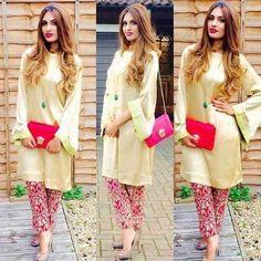 Traditional dress Pakistani Casual Wear, Pakistani Outfits, Indian Outfits, Eastern Dresses, Pakistani Couture, Indian Designer Outfits, Kurta Designs, Indian Dresses, Traditional Dresses