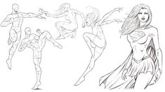 """Robert A. Marzullo: """"In this video we draw some more comic book style poses and discuss why this is so important to practice daily. Comic Book Style, Comic Books Art, Comic Art, Powerball Drawing, Marvel Fan Art, Figure Drawing Reference, Comic Drawing, Easy Drawings, Poses"""