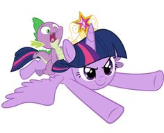 Twilight and Spike  - We coming to you! by JoeMasterPencil.deviantart.com on @deviantART