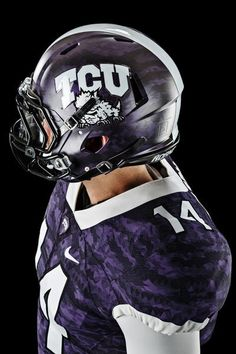 TCU's fresh new look from #Nike #FootballHelmet #Riddell