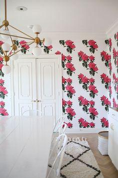 Dining Room Wallpaper via A Beautiful Mess