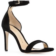 Chloe Gosselin Narcissus sandals (€540) ❤ liked on Polyvore featuring shoes, sandals, black leather shoes, leather footwear, genuine leather shoes, real leather shoes and kohl shoes