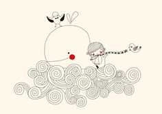 Swantje & Frieda Baleine A4 Art Mignon, Children's Book Illustration, Book Illustrations, Kids Prints, Disney Drawings, Drawing For Kids, Picture Wall, Cute Art, Childrens Books
